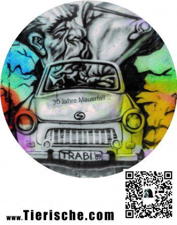 Graffiti T-shirt 30 Jahre Mauerfall Hinten